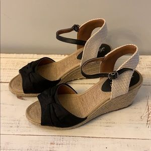 Lucky Brand Espadrille Wedge Sandals Size 8